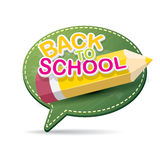Back to school label on green speech bubble Stock Images