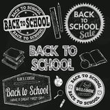 Back to school label set Royalty Free Stock Image