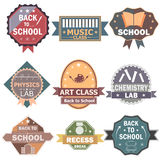 Back to School label tag sticker for Advertisement Royalty Free Stock Photo