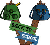 Back to school label Stock Photography