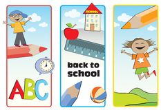 Back to school labels Stock Photo