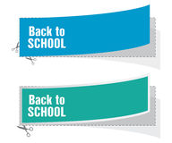 Back to school labels Stock Images