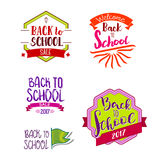 Back to school labels collection Royalty Free Stock Photography