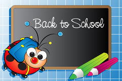 Back to school with ladybug Royalty Free Stock Photos