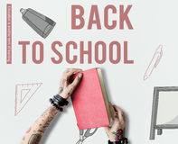Back To School Learning Icon concept Stock Images