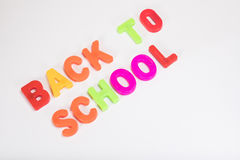 Back to school learning letters with copy space Royalty Free Stock Images