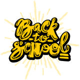 Back to school lettering chalk motivation inscription. Stock Photography