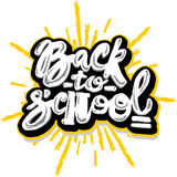 Back to school lettering chalk motivation inscription. Stock Image