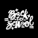 Back to school lettering chalk motivation inscription. Stock Photos