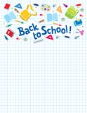 Back to school lettering or design template Stock Images