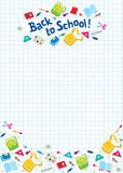 Back to school lettering or design template Stock Photography