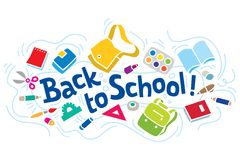 Back to school lettering or design template Stock Image