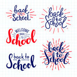 Back to school. lettering Royalty Free Stock Image