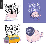 Back to school lettering, set Royalty Free Stock Photography