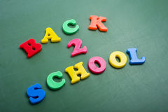 Back to School Letters Stock Image