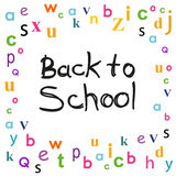 Back to school with letters background Royalty Free Stock Images