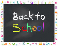 Back to school letters with black chalkboard Stock Photography