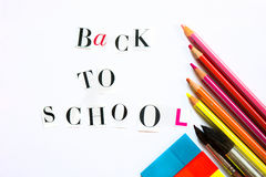 Back to School Letters cut out from the Magazine with colourful Royalty Free Stock Image
