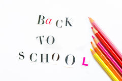 Back to School Letters cut out from the Magazine with colourful Royalty Free Stock Photo