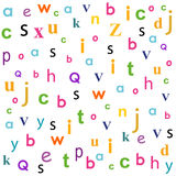 Back to school and letters pattern vector Stock Photos