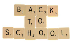 Back to school letters Royalty Free Stock Photography