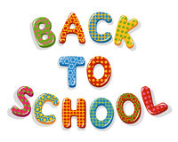Back to school letters Stock Images