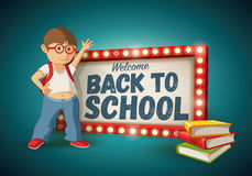 Back to School light sign Stock Photo