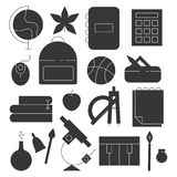 Back to school line icon set. Education vector collection. Stock Photography