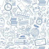 Back to school line icons Royalty Free Stock Photo