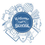 Back to school line icons Stock Photo