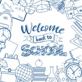 Back to school line icons Stock Images