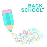 Back to school lines Royalty Free Stock Photo