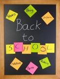 Back to school list stock photo