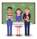 Back to school. Little friends Stock Image
