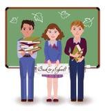Back to school. Little friends Stock Image