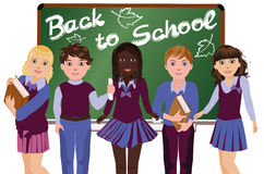 Back to School. Little Happy schoolchildren Royalty Free Stock Image
