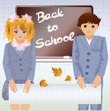 Back to school, little school children Stock Image