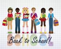 Back to School. Little school friends Stock Photography