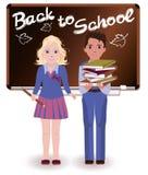 Back to School. Little schoolchild. Vector illustration Stock Photography