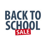 Back to School logo or emblem. Sale and Best offers. Vector illustration. Royalty Free Stock Image