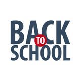 Back to School logo or emblem. Sale and Best offers. Vector illustration. Royalty Free Stock Photography