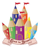 Back to School.  Magic school castle Royalty Free Stock Photo