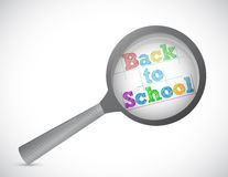 Back to school magnify illustration design Stock Photos