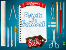 Back to School marketing background. EPS 10 Royalty Free Stock Image