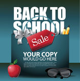 Back to School marketing background. EPS 10 vector. Stock Vector Illustration for greeting card, ad, promotion, poster, flier, blog, article, social media royalty free illustration
