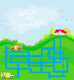 Back to school - maze Royalty Free Stock Photography