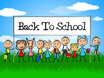 Back To School Means Youths Educate And Education. Back To School Indicating Kids Learned And Develop Royalty Free Stock Image