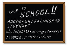 Back to school message. As white chalk writing Royalty Free Stock Photos
