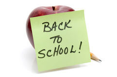 Back to school message Royalty Free Stock Photos
