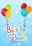 Back to school message Royalty Free Stock Photo